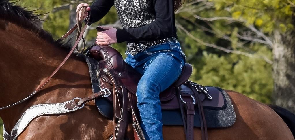 Western felt saddle pad