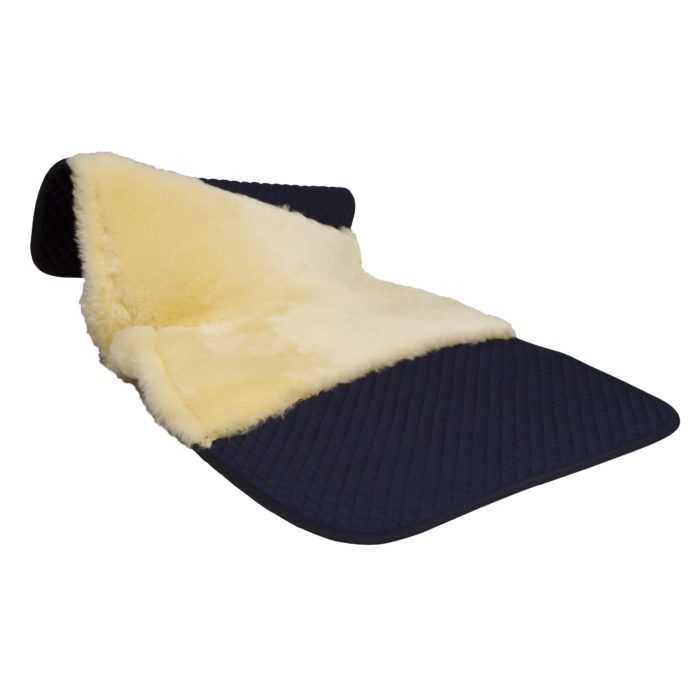 full sheepskin dressage saddle pad