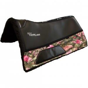 pink camo western saddle pad
